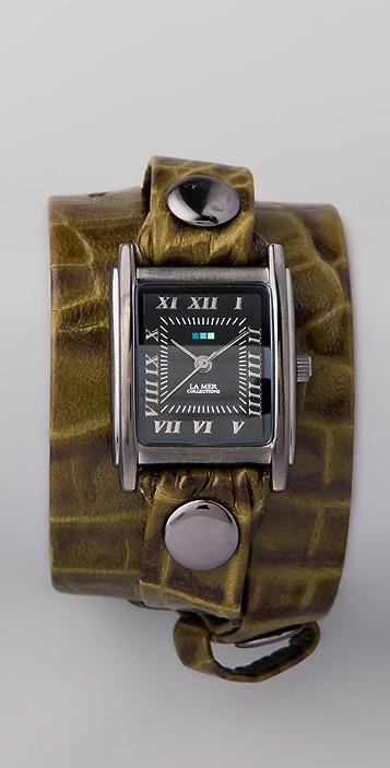 La Mer Collections Croco Wrap Watch