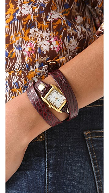La Mer Collections Limited Edition Croco Wrap Watch
