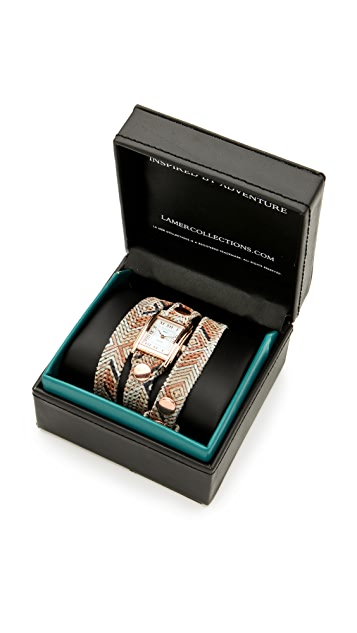 La Mer Collections Limited Edition Paris Aztec Wrap Watch