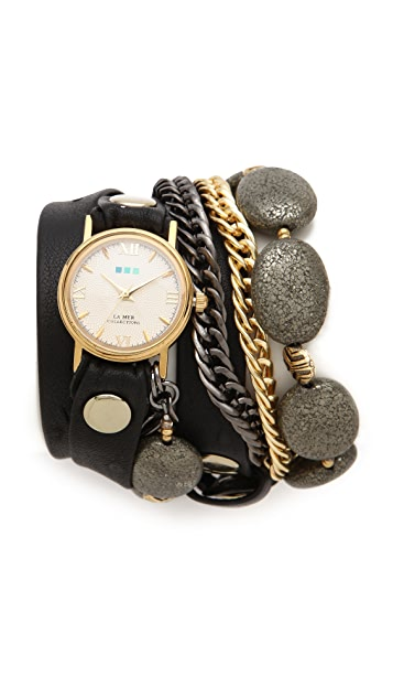 La Mer Collections Kenyan Stones Wrap Watch