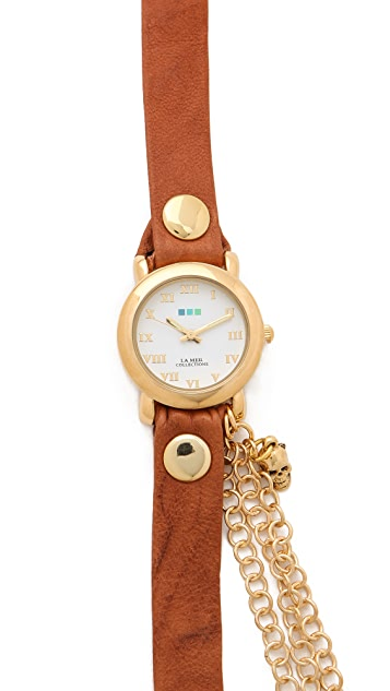 La Mer Collections Skull Charms Wrap Watch