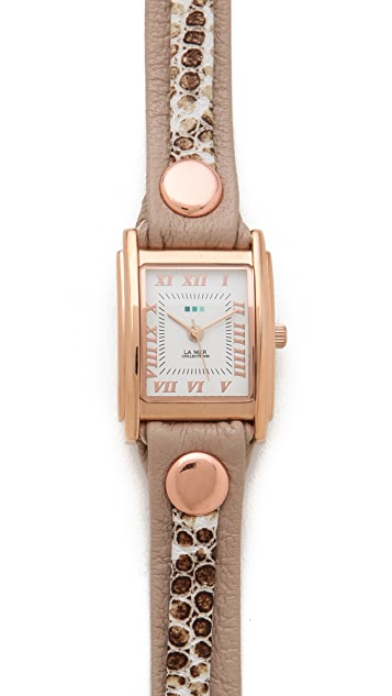 La Mer Collections Snake Layered Wrap Watch