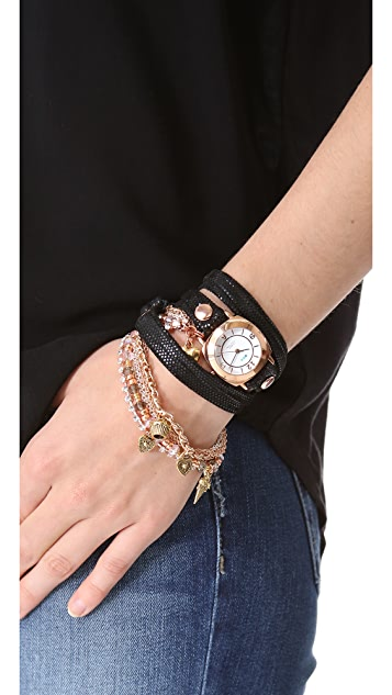 La Mer Collections Champagne Multi Chain Wrap Watch
