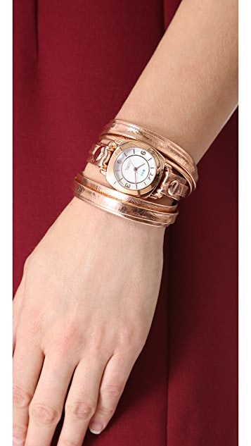 La Mer Collections Odyssey Case Layer Wrap Watch