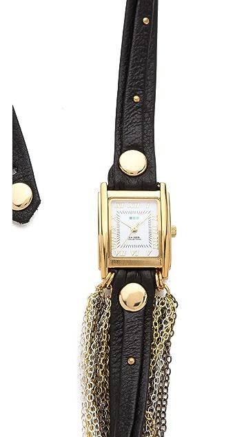 La Mer Collections Venice Stud Wrap Watch