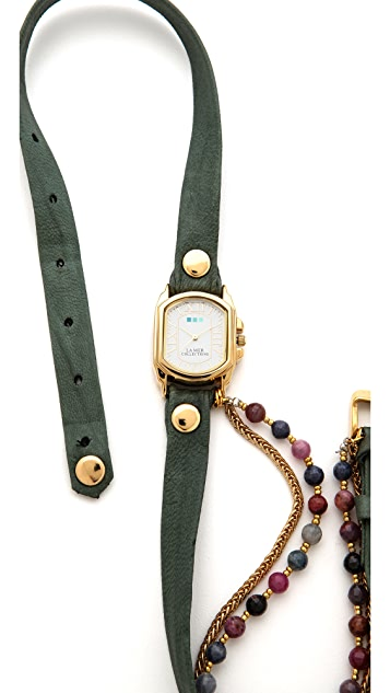 La Mer Collections Chateau Beaded Wrap Watch