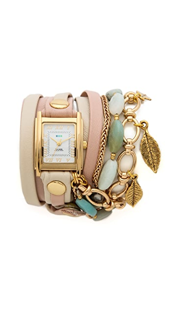 La Mer Collections Aspen Leaf Charm Watch