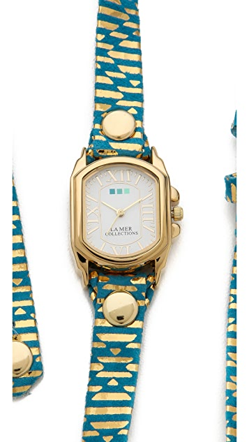 La Mer Collections Chateau Egyptian Print Wrap Watch