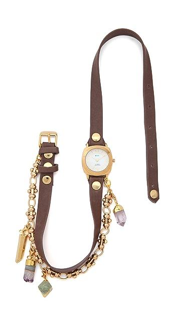 La Mer Collections Topanga Removable Crystal Wrap Watch