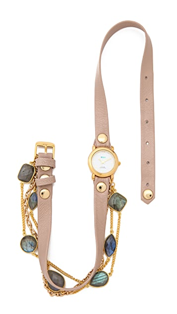 La Mer Collections Stones by the Yard Labradorite Wrap Watch