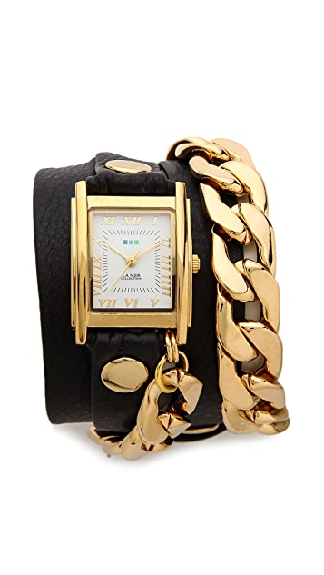 La Mer Collections Black Malibu Watch
