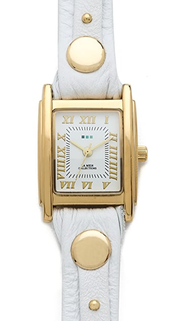 La Mer Collections Stud Wrap Watch