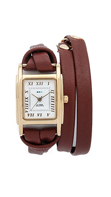 La Mer Collections Leather Wrap Watch