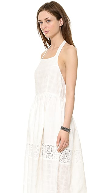L'AMERICA She's All That Voile Halter Dress