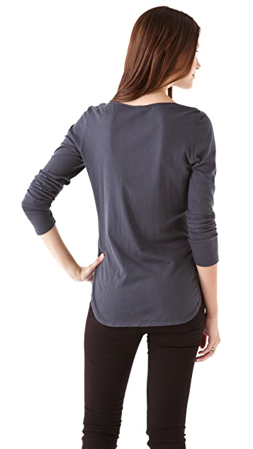 Lanston Split V Long Sleeve Tee