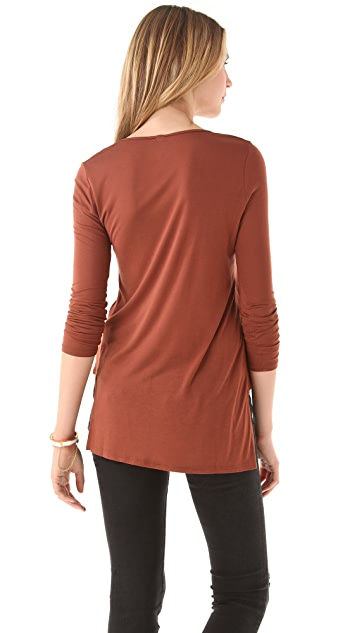 Lanston Side Panel Long Sleeve Tee