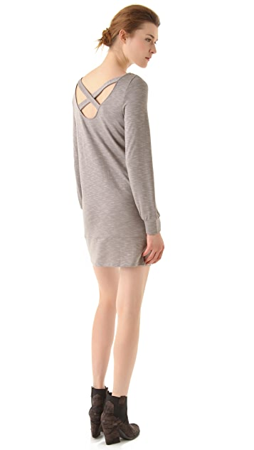 Lanston Cross Back Mini Shift Dress