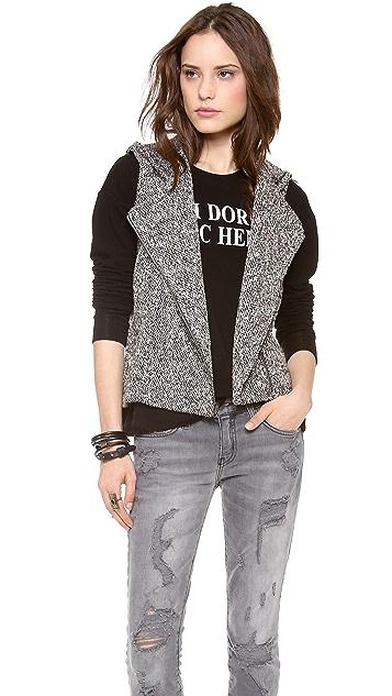 Lanston Boucle Hooded Vest