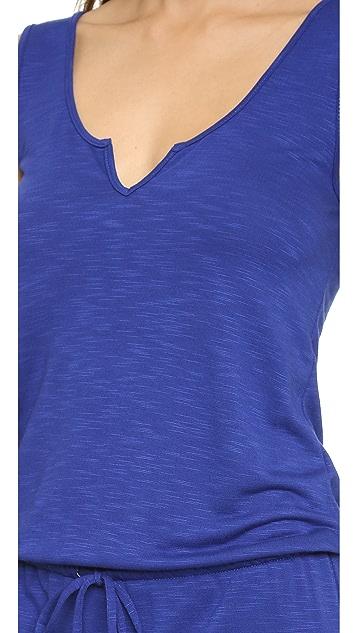 Lanston Split V Maxi Dress