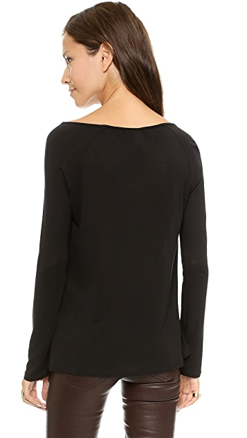 Lanston Drape Key Hole Top