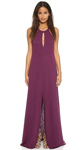 b77dc9a4b Lanston Макси-платье с американской проймой и разрезом   SHOPBOP