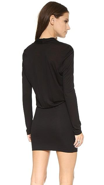 Lanston Surplice Long Sleeve Dress