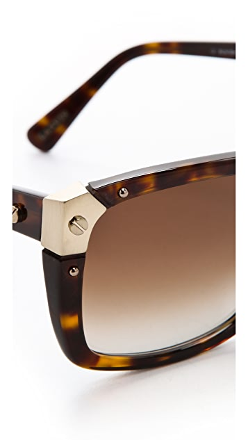 Lanvin Square Sunglasses with Screw Details