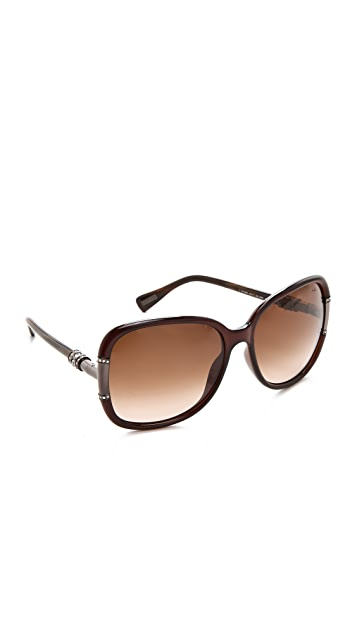 Lanvin Oversized Sunglasses with Swarovski Crystals