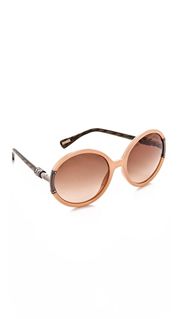f75a7f003863 Lanvin Round Sunglasses with Swarovski Crystals