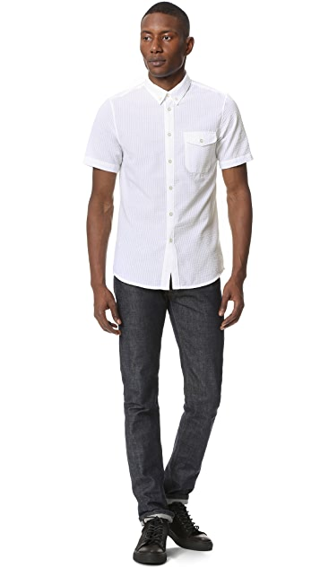 La Panoplie Seersucker Short Sleeve Shirt