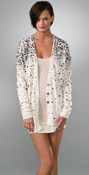 LaROK LUXE Long Cardigan with Sequins