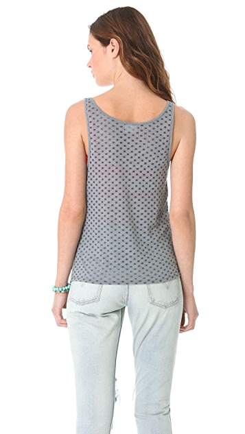 LA't by L'AGENCE Polka Dot Burnout Tank