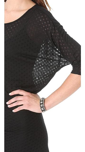 LA't by L'AGENCE U Neck Dolman Dress with Slip