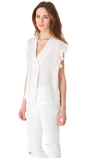 LA't by L'AGENCE Sleeveless Top with Ruffles