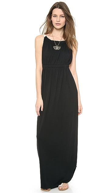 LA't by L'AGENCE Shirred Maxi Dress