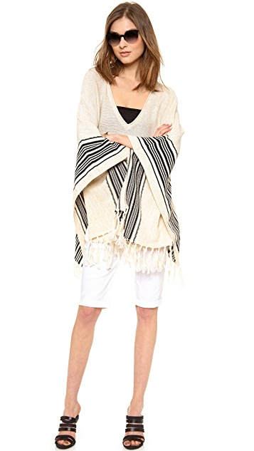 LA't by L'AGENCE Fringed Poncho