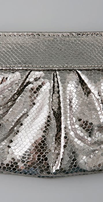 Lauren Merkin Handbags Eve Metallic Snake Clutch