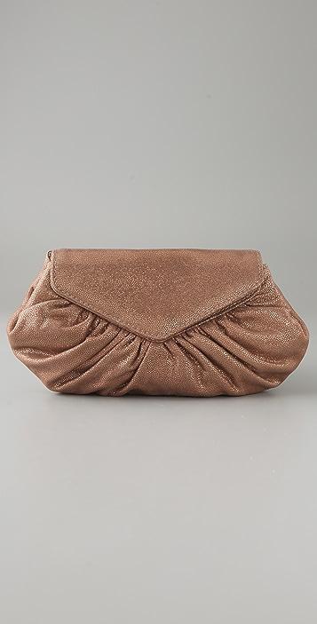 Lauren Merkin Handbags Diana Speckled Metallic Clutch