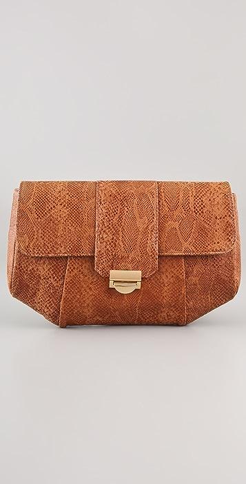 e0aab973df95 Lauren Merkin Handbags Blair Glossy Python Clutch