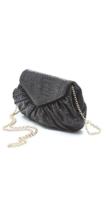 Lauren Merkin Handbags Diana Patent Snake Bag