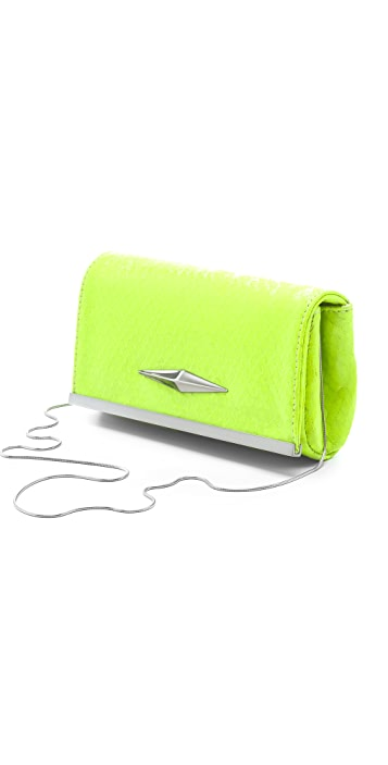 Lauren Merkin Handbags Essex Neon Snake Clutch