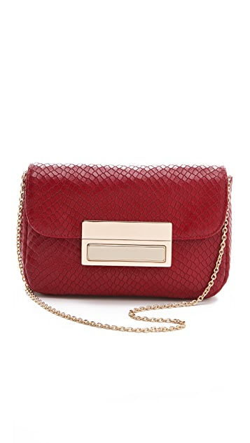Lauren Merkin Handbags Iris Stamped Snake Clutch
