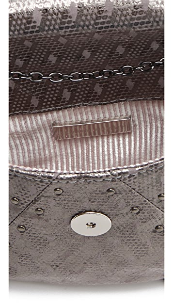 Lauren Merkin Handbags Riley Etched Metal Clutch