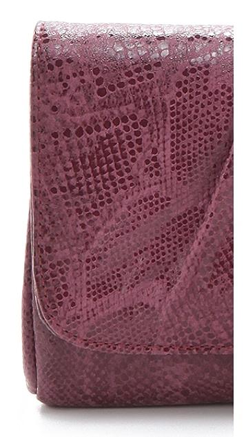 Lauren Merkin Handbags Caroline Python Clutch
