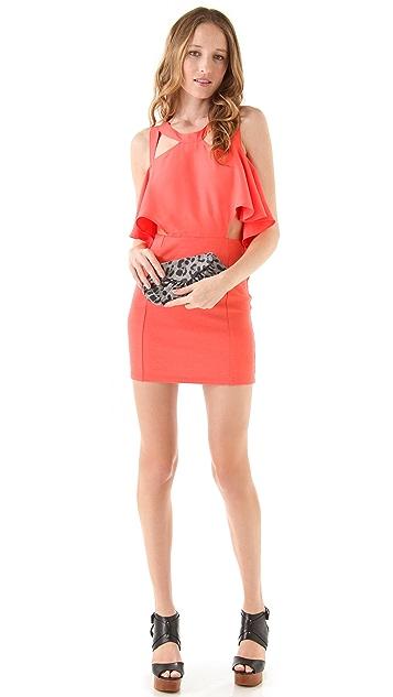 Lauren Merkin Handbags Diana Leopard Suede Clutch