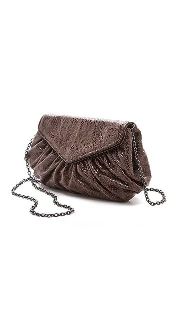 Lauren Merkin Handbags Diana Python Clutch