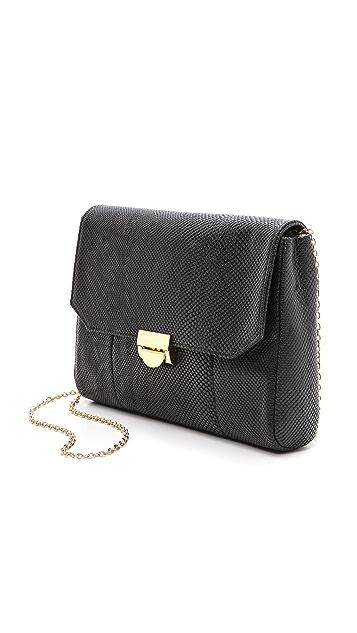 Lauren Merkin Handbags Snake Embossed Mini Marlow Bag