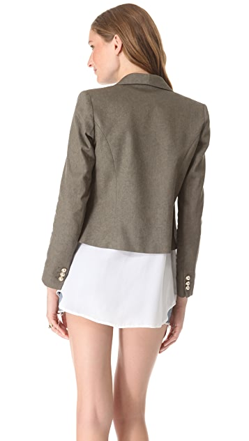 LAVEER Cropped Band Jacket