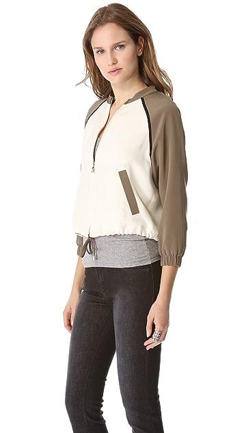 LAVEER Silk Bomber Jacket
