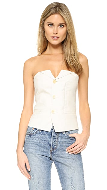LAVEER Isola Button Up Bustier Top